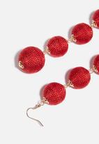 dailyfriday - Drop earrings - red