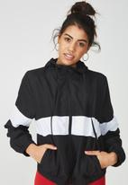 Supré  - Panelled windbreaker - black & white