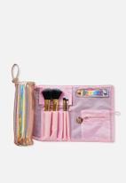 Cotton On - Roll up brush cos case - pink