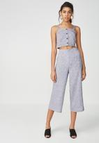 Supré  - Crop wide leg pant - grey