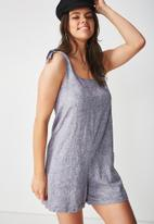 Supré  - Lexi tie shoulder romper - grey