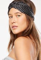 Cotton On - Manhattan headband-black & white