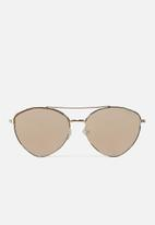 Cotton On - Olivia fashion aviator sunglasses - rose gold