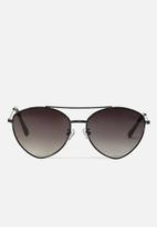 Cotton On - Olivia fashion aviator sunglasses - black