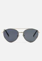 Cotton On - Olivia fashion aviator sunglasses - gold