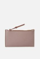 Cotton On - Indiana card holder - beige & rose gold