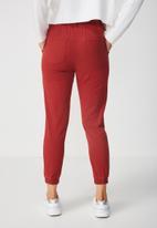 Supré  - Soho paperbag waist pant - red