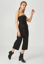 Supré  - Fitted strapless jumpsuit - black