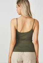 Supré  - Luxe scoop neck cami - khaki