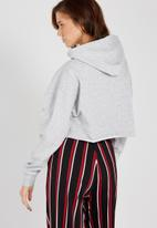 Supré  - Raw slouch zip thru hoodie - grey