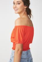 Cotton On - Tie front top - orange