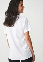 Cotton On - Tbar kelly drop shoulder - white