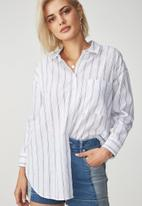 Cotton On - Monique shirt - white & black