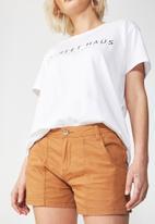 Cotton On - Pocket chino short - tan