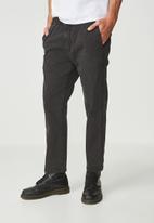 Cotton On - Denim Roller Pant - black