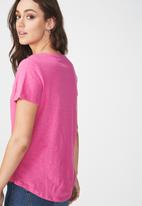 Cotton On - Deep V -Rose Violet