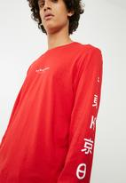 Cotton On - Tbar long sleeve tee - red