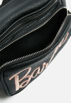 Missguided - Barbie embroidered waist bag - black