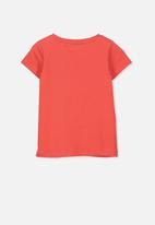 Cotton On - Penelope short sleeve tee - red