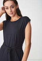 Cotton On - Tie waist midi dress - Navy