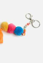 dailyfriday - Pom pom and tassel bag charm - multi