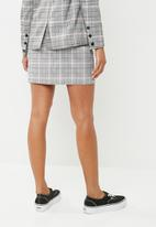Noisy May - Kaira mini skirt - black & grey