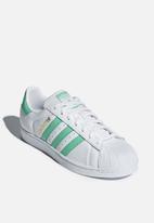 adidas Originals - Superstar - Ftwr White / Hi-Res Green / Gold Met