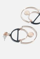 dailyfriday - Statement earrings with rose stone - rose gold/black