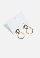 dailyfriday - Suspended circle earrings - gold