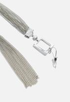 dailyfriday - Square and tassel earrings - silver