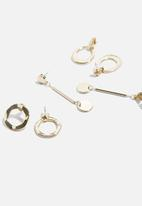 dailyfriday - Circle 3 pack earring set - gold