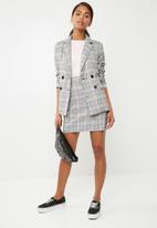 Noisy May - Kaira mini skirt - black & grey