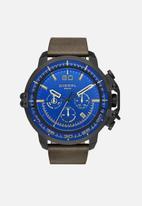 Diesel  - Deadeye leather watch - green