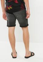 Jack & Jones - Rick original denim shorts - black