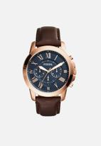 Fossil - Grant - rose gold & brown