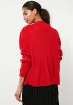 Superbalist - Chunky oversize cardi - red