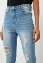 Superbalist - Ripped skinny jeans - blue
