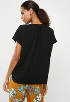 Superbalist - Mandarin collar shell top - black