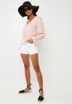 Superbalist - Feminine Blouse with Peplum - Light Pink
