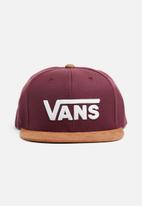 Vans - Drop V ll snapback - burgundy & tan