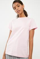 Superbalist - Scoop neck tee 2 pack - grey & pink