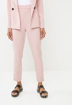 Missguided - Pinstripe cigarette trousers - pink