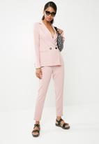 Missguided - Pinstripe blazer - pink