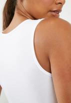 Superbalist - High neck bodysuit 2 pack  - black & white