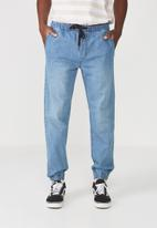 Cotton On - Drake cuffed pant - blue