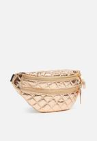 Missguided - Quilted waist bag - rose gold