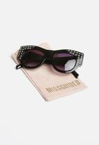 Missguided - Embellished thick cat eye sunglasses - black
