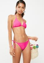 Missguided - Scallop edge triangle bikini set - pink