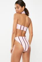 Missguided - Choker stripe bikini set - multi