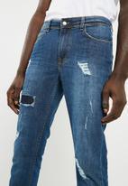 basicthread - Slim fit jeans - blue